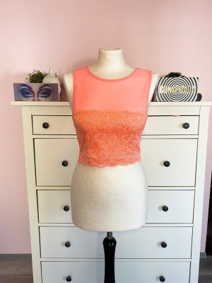 Cropped Top mit Spitzendetails