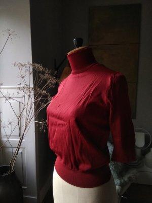 Zara Knit Pull à manches courtes multicolore coton