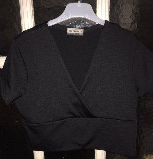 C&A Clockhouse Cropped Shirt black spandex
