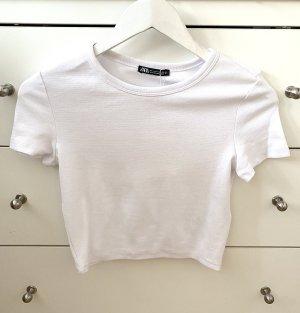 Zara Top corto bianco
