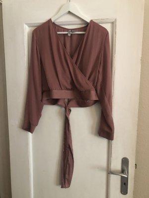 H&M Camicia cropped color oro rosa-rosa antico