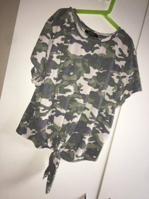 H&M Cropped Shirt dark green