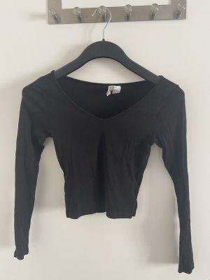 H&M Divided Camicia cropped nero