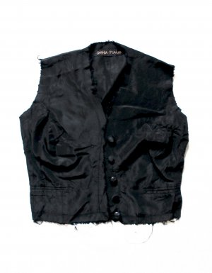 Fringed Vest black