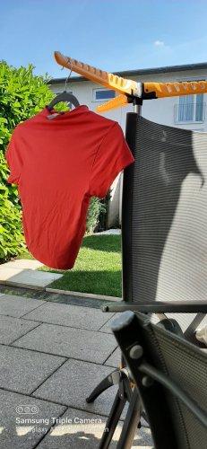 Asos Denim T-shirt court rouge