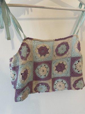 Pull & Bear Crochet Top multicolored
