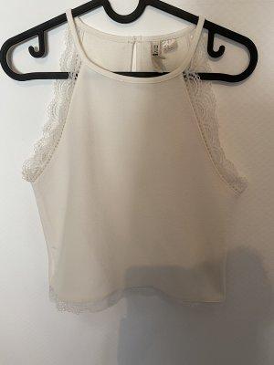 H&M Top o skróconym kroju biały