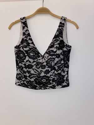 BSB Collection Top tipo bustier negro-blanco