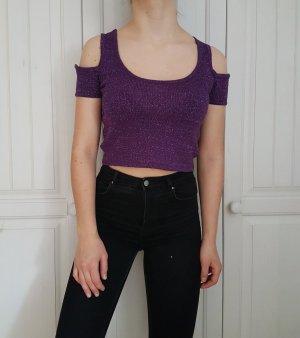 Croptop crop top croppulli croppullover pulli pullover lila shirt t-shirt tshirt