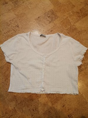 Fishbone Cropped Top white