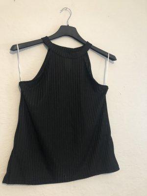 Camisa recortada negro
