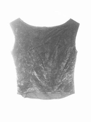 Croptop Samt Shirt schwarz Corsage