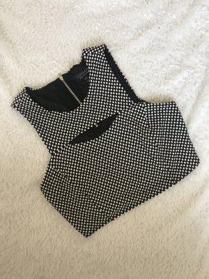Topshop Camisa recortada negro-blanco