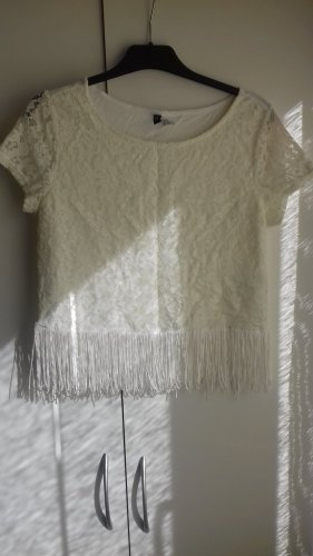 H&M Divided Camicia cropped bianco sporco
