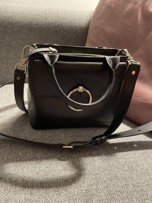 Claudie Pierlot Crossbody bag black leather