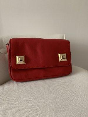 Cross body bag, rot aus Leder, wir neu!