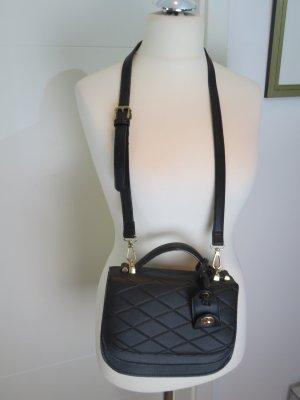 Cross Body Bag Umhaengetasche in schwarz von Zara Steppung Chanel Style