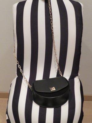 Cross Body Bag von Zara in schwarz mit Golddetails