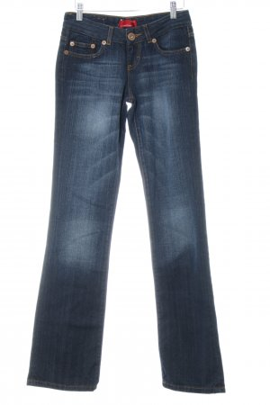 Cross Boot Cut Jeans dunkelblau Jeans-Optik