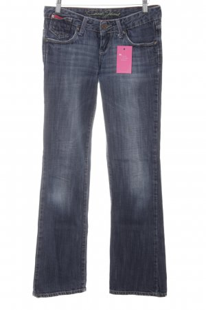 Cross Boot Cut Jeans graublau Logo-Applikation
