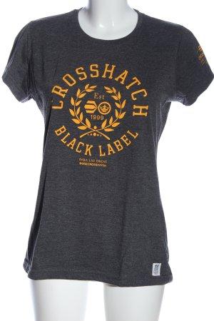 Cross Hatch Print-Shirt