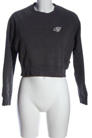 Cross Hatch Sweat Shirt black casual look