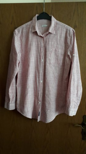CROSS JEANS Shirt Blouse white-red cotton