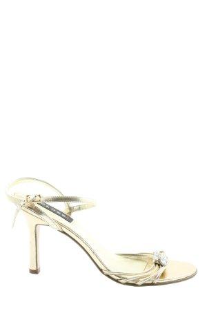 Cross High Heel Sandal gold-colored casual look