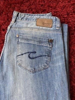 Cross Jeansy z prostymi nogawkami błękitny