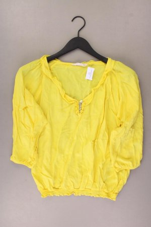 Cross Jeans Bluse Größe L 3/4 Ärmel gelb aus Viskose