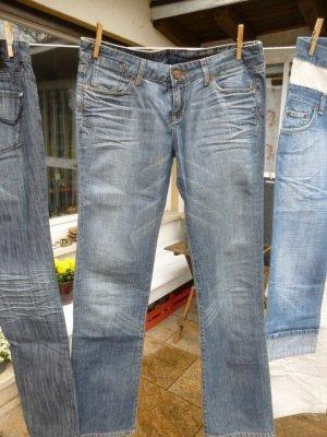 Cross Jeans coupe-droite bleu fluo