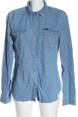 CROSS JEANS Spijkershirt blauw casual uitstraling