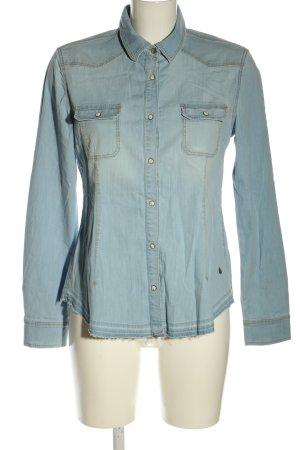 CROSS JEANS Jeansowa koszula niebieski W stylu casual