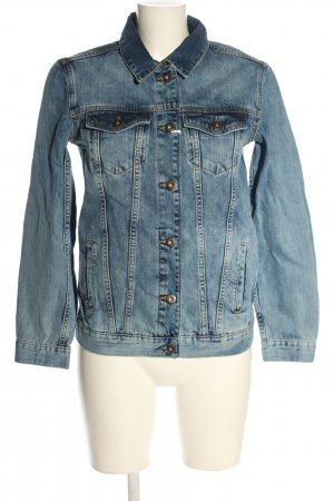 CROSS JEANS Denim Jacket blue themed print casual look