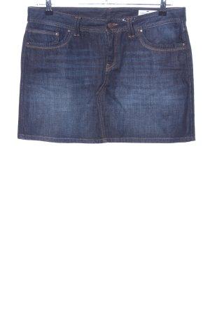 Jupe en jeans bleu style décontracté