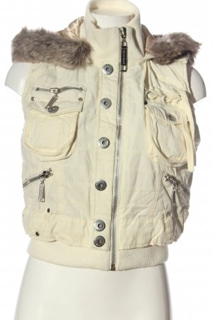 CROSS JEANS Hooded Vest natural white casual look
