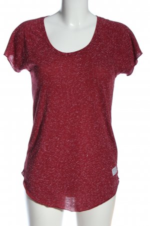 CROSS JEANS Short Sleeved Blouse red flecked casual look