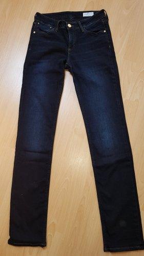 CROSS JEANS Jeansy z prostymi nogawkami ciemnoniebieski Bawełna