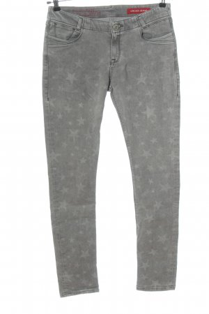 CROSS JEANS Tube Jeans light grey themed print casual look