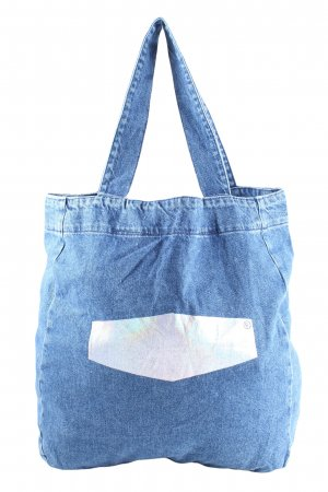 CROSS JEANS Shopper blue-silver-colored casual look