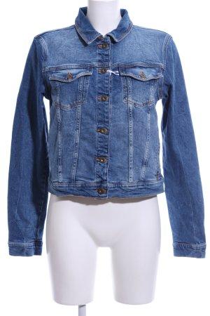 Cross Jeansjacke blau Casual-Look
