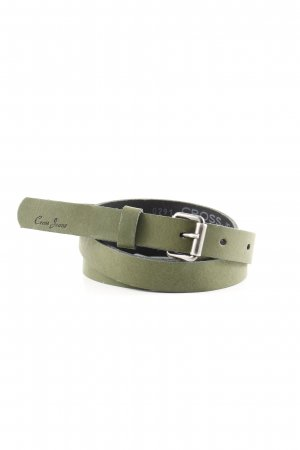 Cross Leather Belt khaki casual look