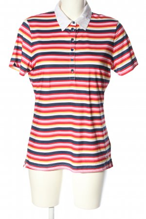 Cross Polo-Shirt Streifenmuster Casual-Look