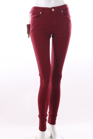 Cross Skinny Jeans bordeaux