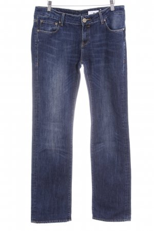 Cross Straight-Leg Jeans blau Washed-Optik