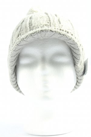Cross Knitted Hat light grey cable stitch casual look