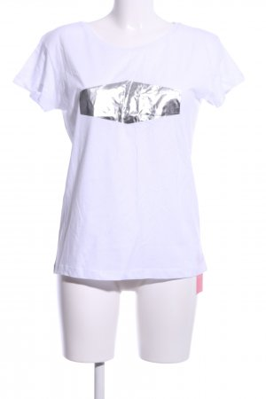 Cross T-Shirt white-silver-colored casual look