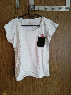 Cross T-shirt blanc-noir