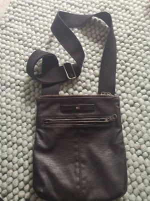 crossbag Seitentasche Tasche echt Leder Tommy Hilfiger