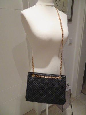 Crossbody Chainbag Stepptasche  echte Kleine Chanel Vintage Tasche schwarz aus den 90 er Jahren crossbody Schultertasche